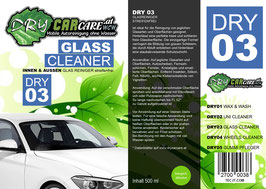 Dry3 - Glass Cleaner - 500ml Sprühflasche