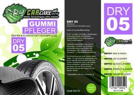 Dry5 - Gummi Pfleger - 500ml Sprühflasche