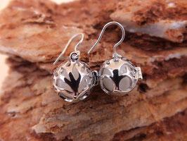 "Ohrhänger ""Baum des Lebens"" mit 12mm Perlen in 925er Sterling Silber"