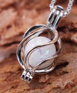 """Engelsrufer mini  """"Spirale"""" mit 8mm Perle in 925er Sterling Silber"""