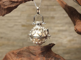 "Engelsrufer ""Kreise"" mit 16mm Perle in 925er Sterling Silber"