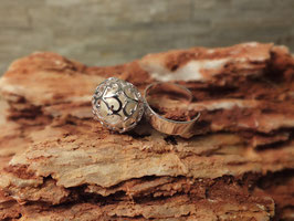 "Ring ""Ranke""mit 12mm Perle in 925er Sterling Silber"