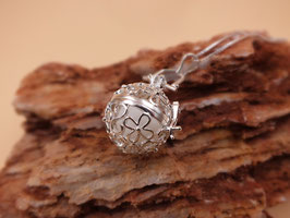 """Engelsrufer """"Blume"""" mit 16mm Perle in 925er Sterling Silber"""