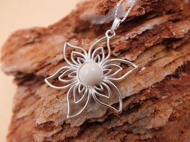 "Anhänger ""Blume"" in 925er Sterling Silber"