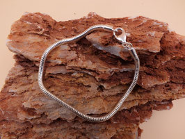 Armband für Großlochperlen in 925er Sterling Silber glänzend