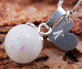 Gravurplättchen Herz 10mm aus 925er Sterling Silber