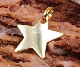 Gravurplättchen Stern 10mm aus Echtgold