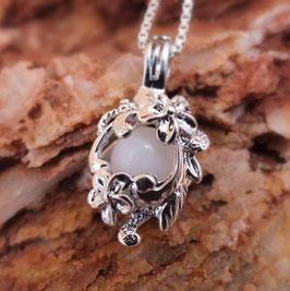 "Engelsrufer mini  ""Blumenmeer"" mit 8mm Perle in 925er Sterling Silber"