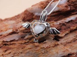 """Engelsrufer mini  """"geflügeltes Herz"""" mit 8mm Perle in 925er Sterling Silber"""