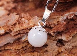 "Perle klein (10mm) ""Blüte"" in 925er Sterling Silber"