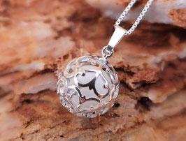 "Engelsrufer mini  ""Ranke"" mit 12mm Perle in 925er Sterling Silber"