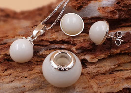 Set Perlen mit 925er Sterling Silber