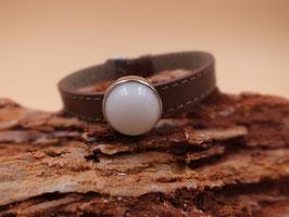 Armband Schiebeperle braun