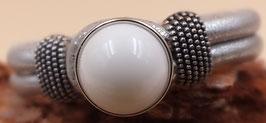 Armband EasyButton Silbergrau- Metallic