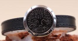 """Armband """"Lebensbaum"""" Edelstahl mit Kunstlederarmband"""