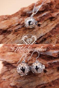 """Set Engelsrufer mini """"Baum des Lebens"""" mit 12mm- Perlen in 925er Sterling Silber"""