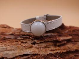 Armband Schiebeperle weiß