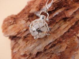 "Engelsrufer ""Netz"" mit 16mm Perle in 925er Sterling Silber"