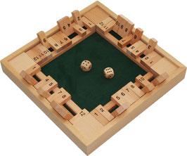Shut the Box, Klappenspiel für 2 - 4 Spieler