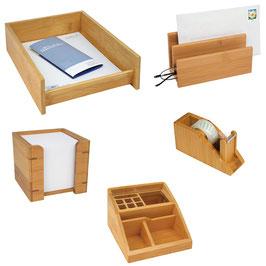 Schreibtischset Bambus