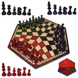 Schach für Drei groß farbig