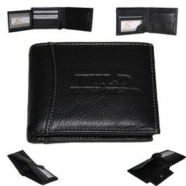 Leder Geldbörse - schwarz klein