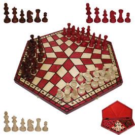 Schach für Drei groß rot