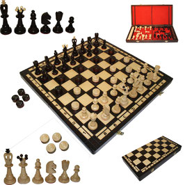 Schach mit Dame groß