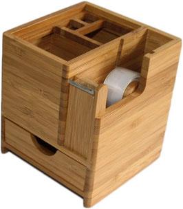 Schreibtischständer mit Klebefilm-Abroller und Schublade