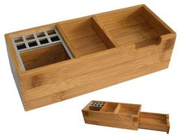 Schreibtischständer lang mit großer Schublade