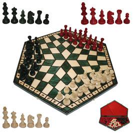Schach für Drei groß grün
