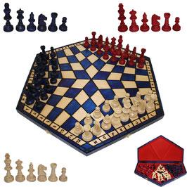 Schach für Drei groß blau
