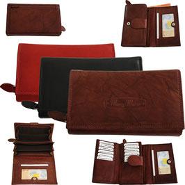 Damen Portemonnaie 4 aus echtem Leder