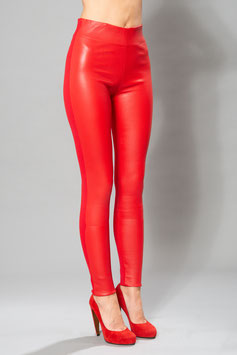 LEDER LEGGINGS PURE RED