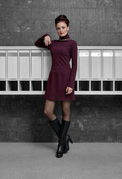DRESS MERINO BORDEAUX