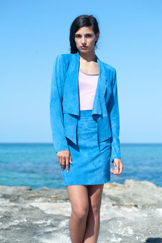 LEDERJACKE SUMMER BLUE