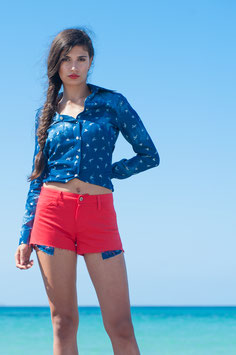 JEANSSHORTS CASUAL RED