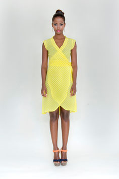 DRESS YELLOW DOTS