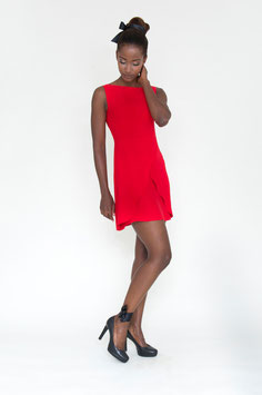 DRESS RED ROSE