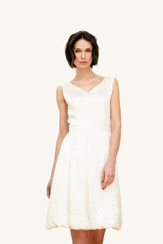 DRESS TRANSPARENT DOTS WHITE