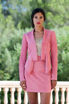 LEDERJACKE SUMMER ROSE