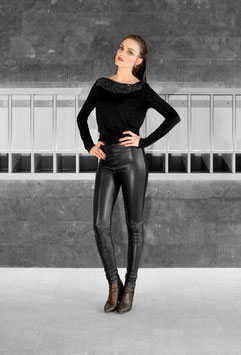 LEDER LEGGINGS SEXY BLACK