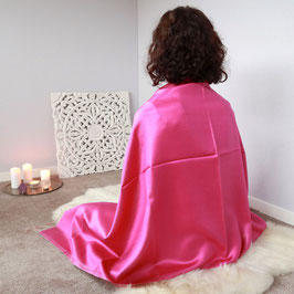 Meditationstuch Seide pink