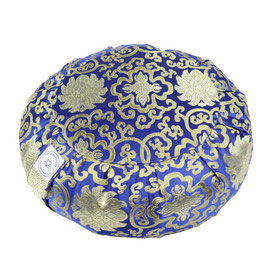 Meditationskissen Brokat blau