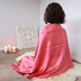 Meditationstuch Seide rosa/lachs