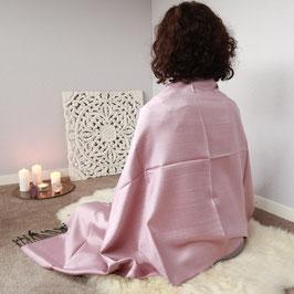 Meditationstuch Seide lavendel/taupe