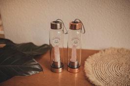 Edelstein Wasserflasche Rosenquarz