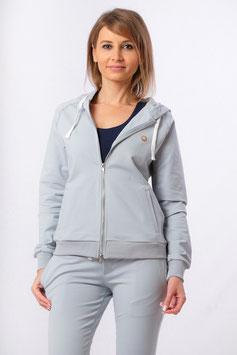 Yoga Sweat Shirt (Hoodie) mit Reissverschluss eisblau