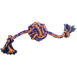 Hunter Ball with rope Jena 38cm