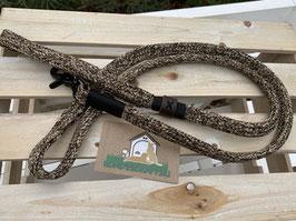 Leine mit Handschlaufe 1,40m moccassin flach